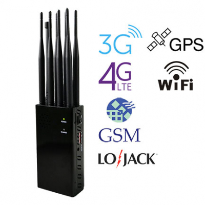 N8P Portable 3G 4G GPS WiFi Lojack Cell Phone Jammer